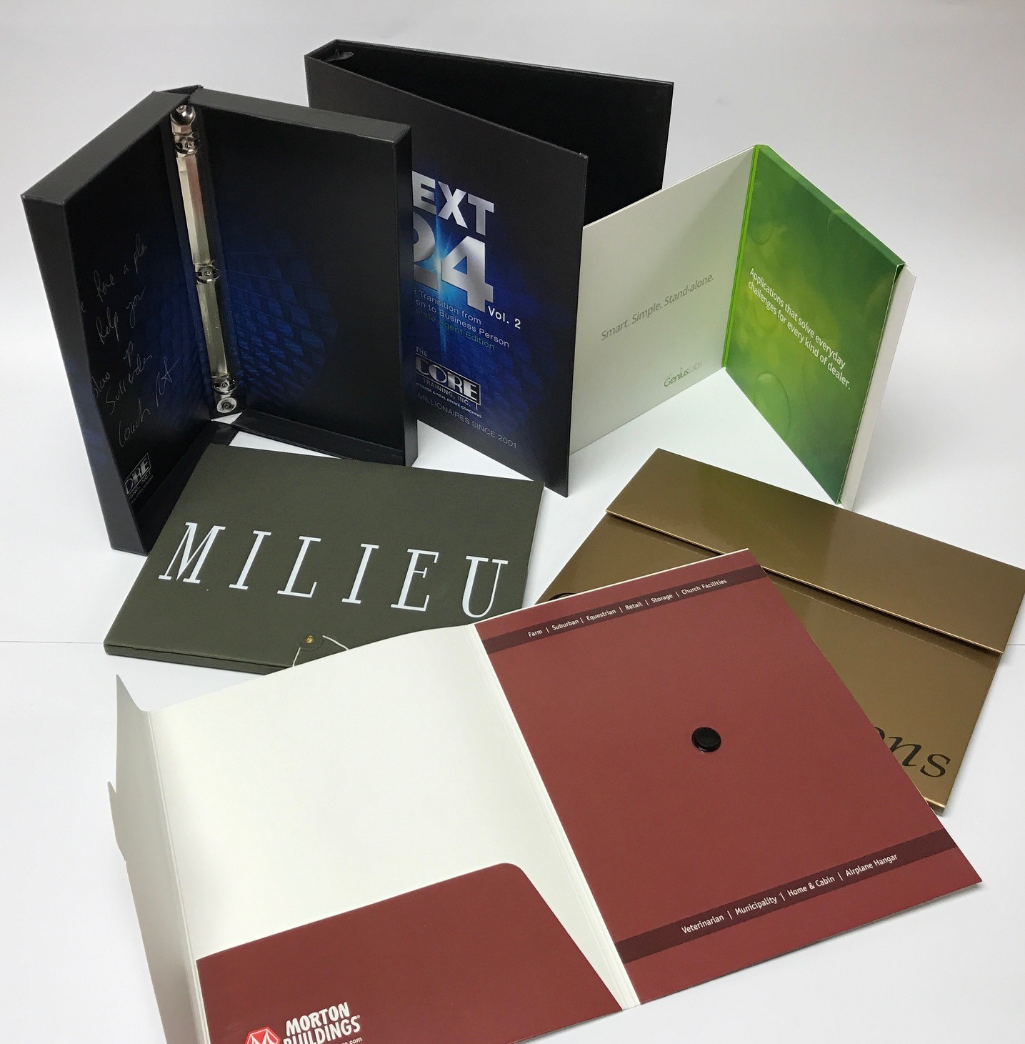 Literature Folders/Ring Binders
